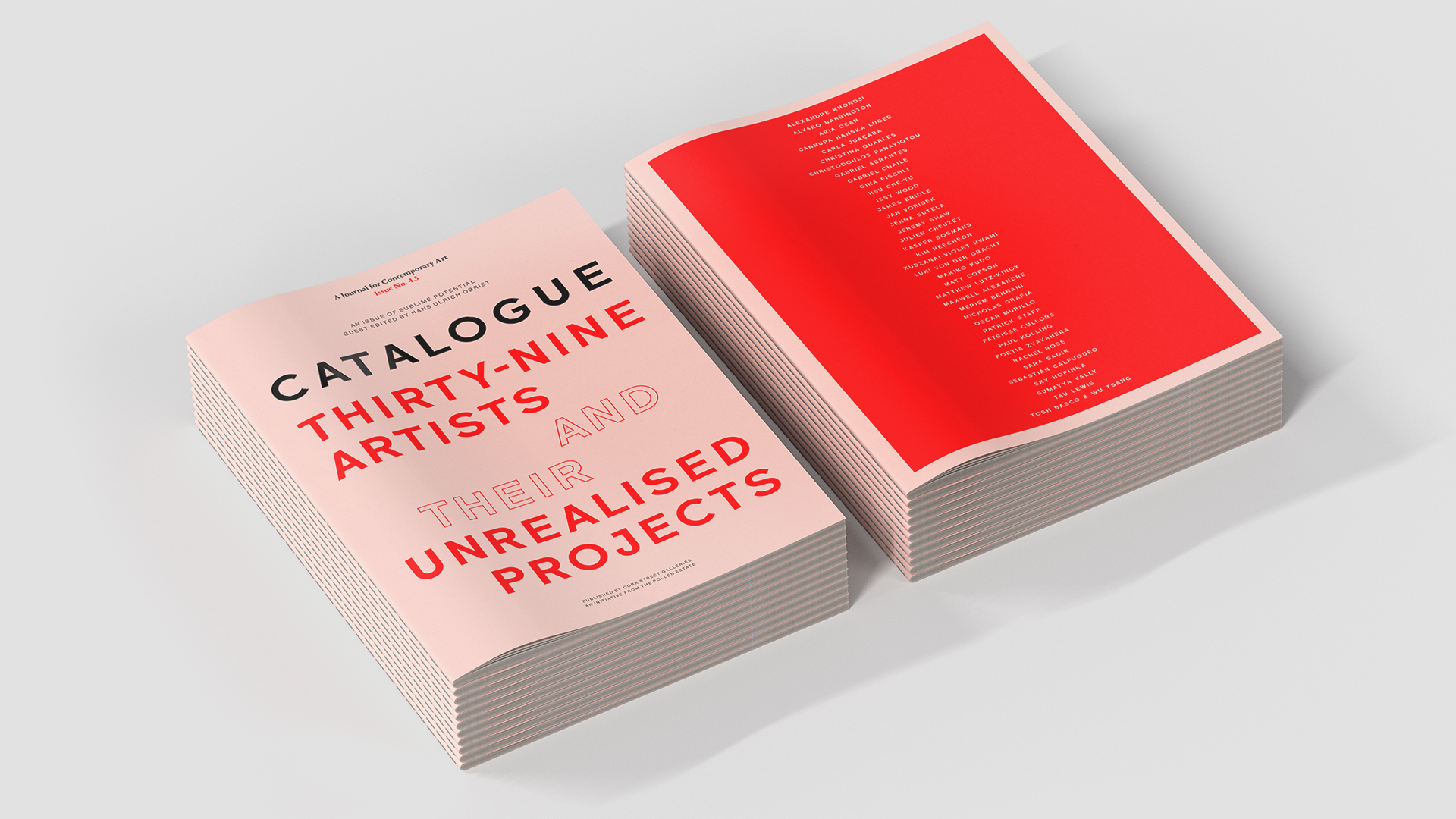 CATALOGUE 4.5 guest edited by Hans Ulrich Obrist is out now. Discover and download.
